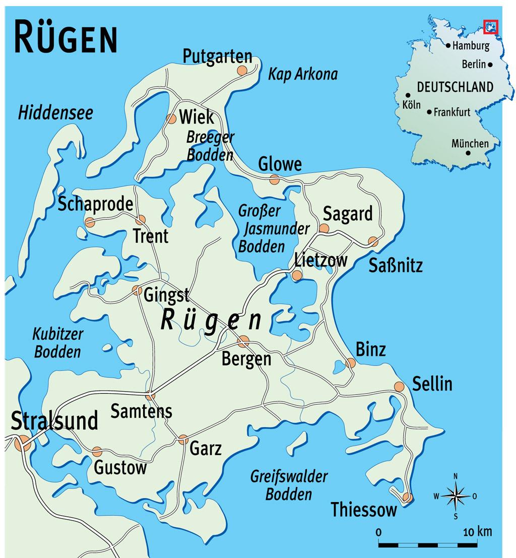 Die Bodden-Gewässer rund um Rügen bieten viel Potenzial zum Raubfisch- aber auch Friedfischangeln. Grafik: BLINKER