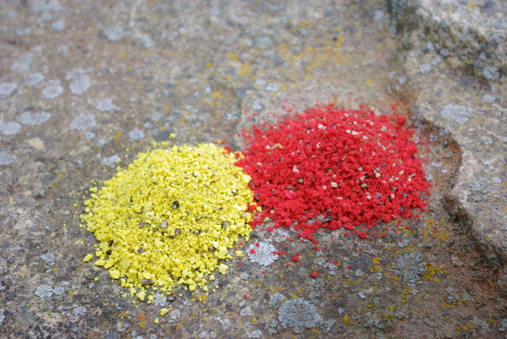 """Sogenannte """"Birdfoods"""" und buntes Paniermehl verleihen dem Futter auffällige farbige Akzente und reizen die Fische visuell. Foto: BLINKER/T. Klein"""
