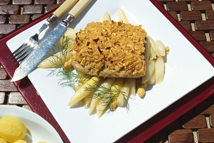 Dorschfilet mit Lachs-Meerrettichkruste. Foto: BLINKER/Koch