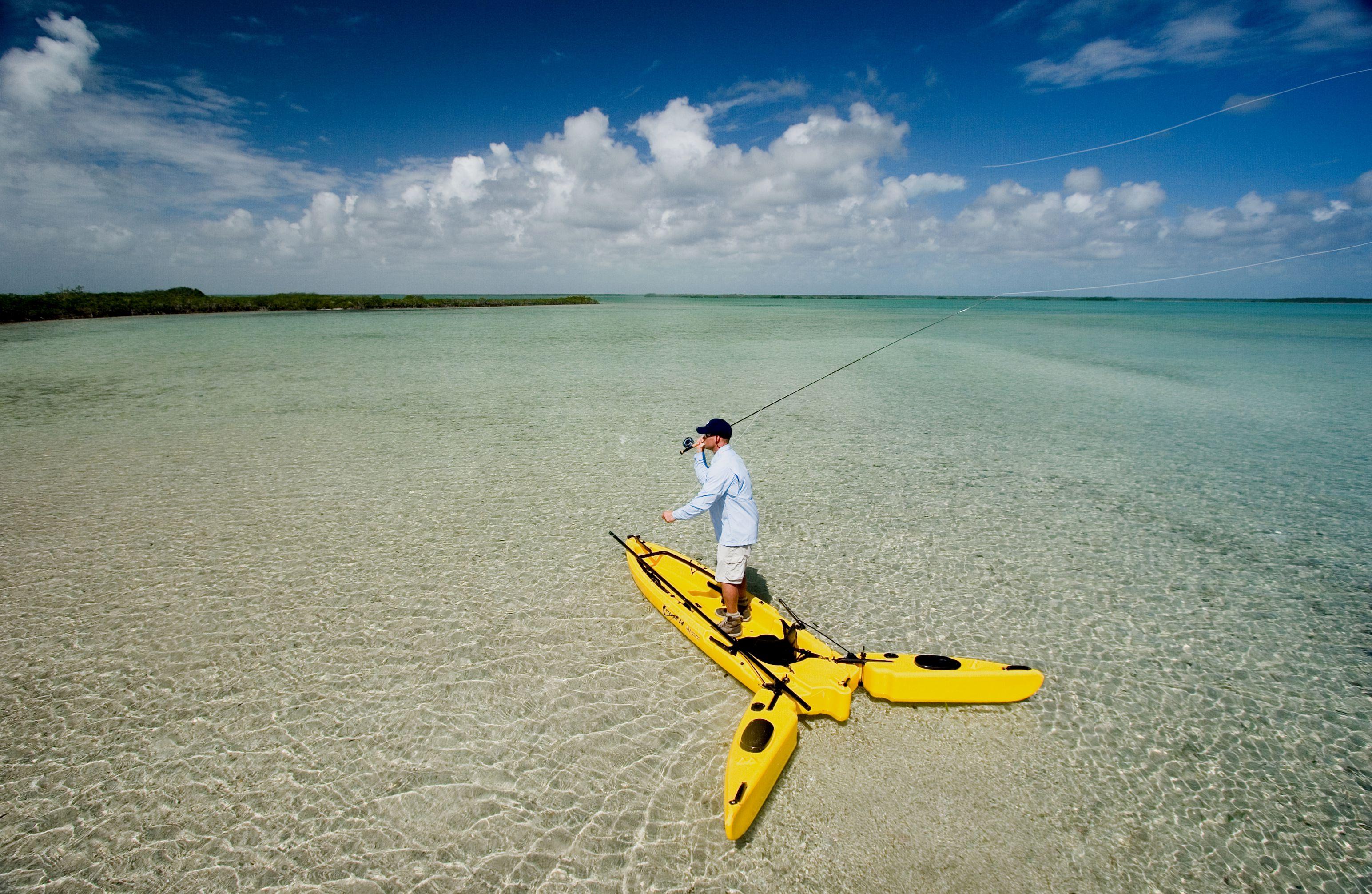 Mit dem Freedom Hawk Kayak ist das Fischen vom Kajak aus kein Problem mehr.