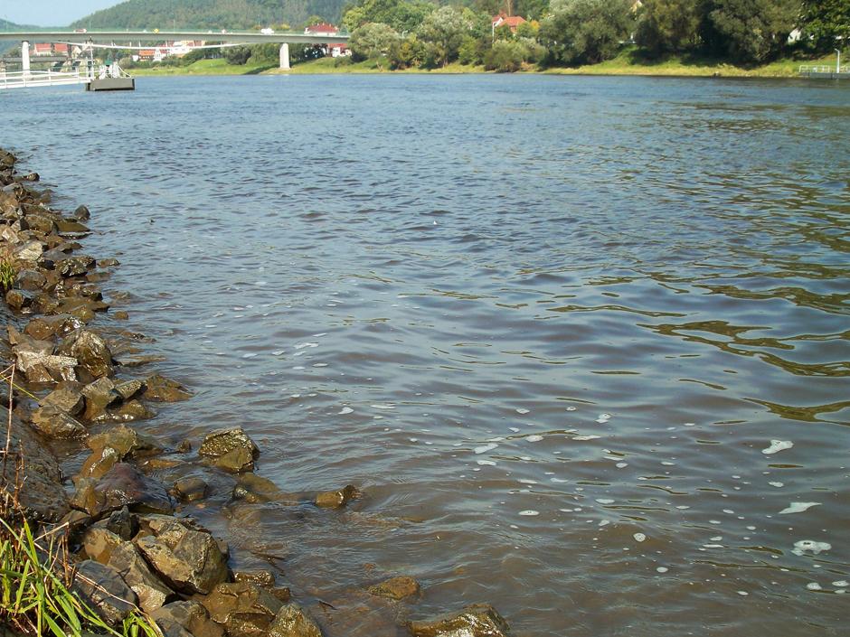In verbauten Flüssen ist die Steinpackung direkt vor den Füßen der beste Aalplatz überhaupt. In den Lücken finden die Aale tagsüber Deckung. Foto: BLINKER