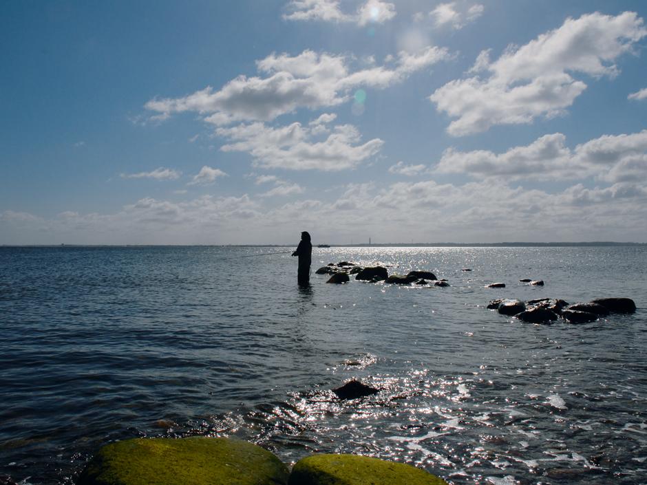 Meerforellenangeln: Angeltage an der Küste sind (fast) immer entspannend und (oft) spannend:Es ist eine besondere Faszination, mit der relativ leichten Spinnrute im Meer zu stehen und auf Silberschätze zu angeln.
