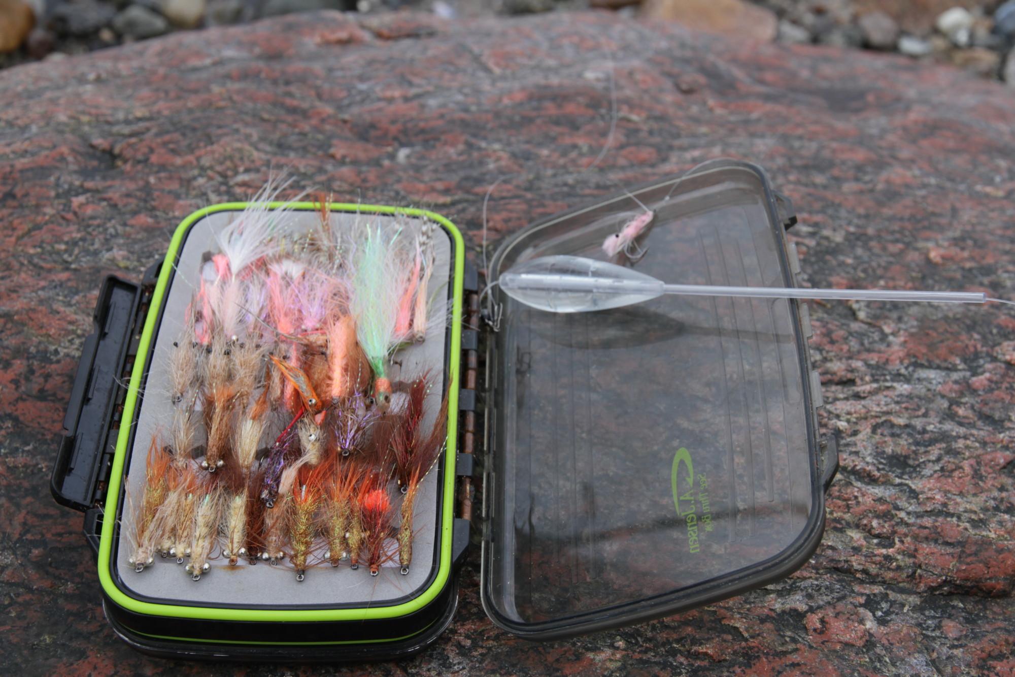 An manchen Tagen ist die Fliege dem Blinker überlegen, wohl dem, der dann eine so gut gefüllte Fliegendose beim Meerforellenangeln hat. Damit können auch große Meerforellen geangelt werden. Foto: J.Radtke
