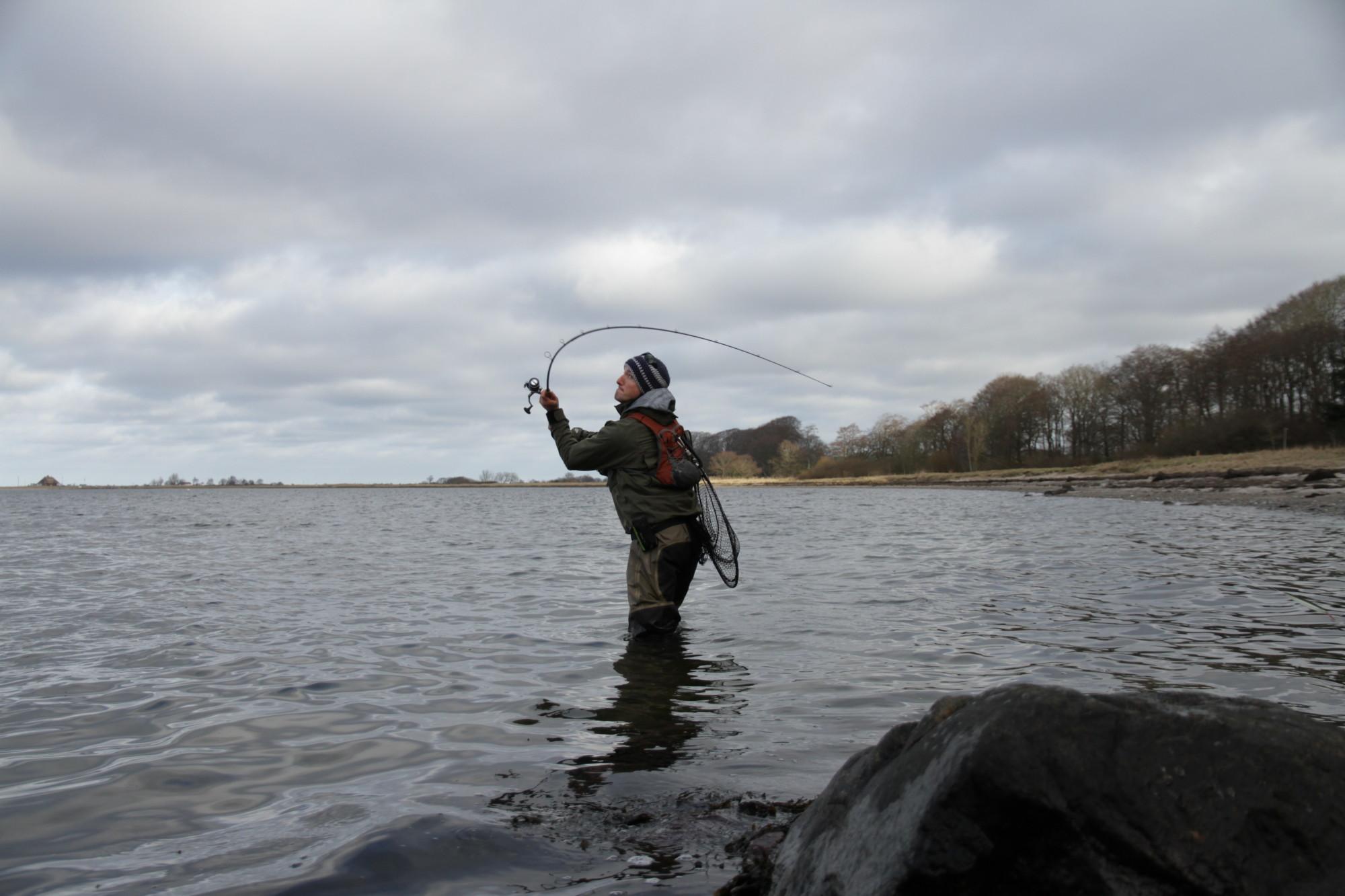 Eine 3 Meter lange Rute mit parabolischer- oder semiparabolischer Aktion ermöglicht angenehmes Werfen und Fisch an der Küste. Foto:BLINKER/J. Rdatke