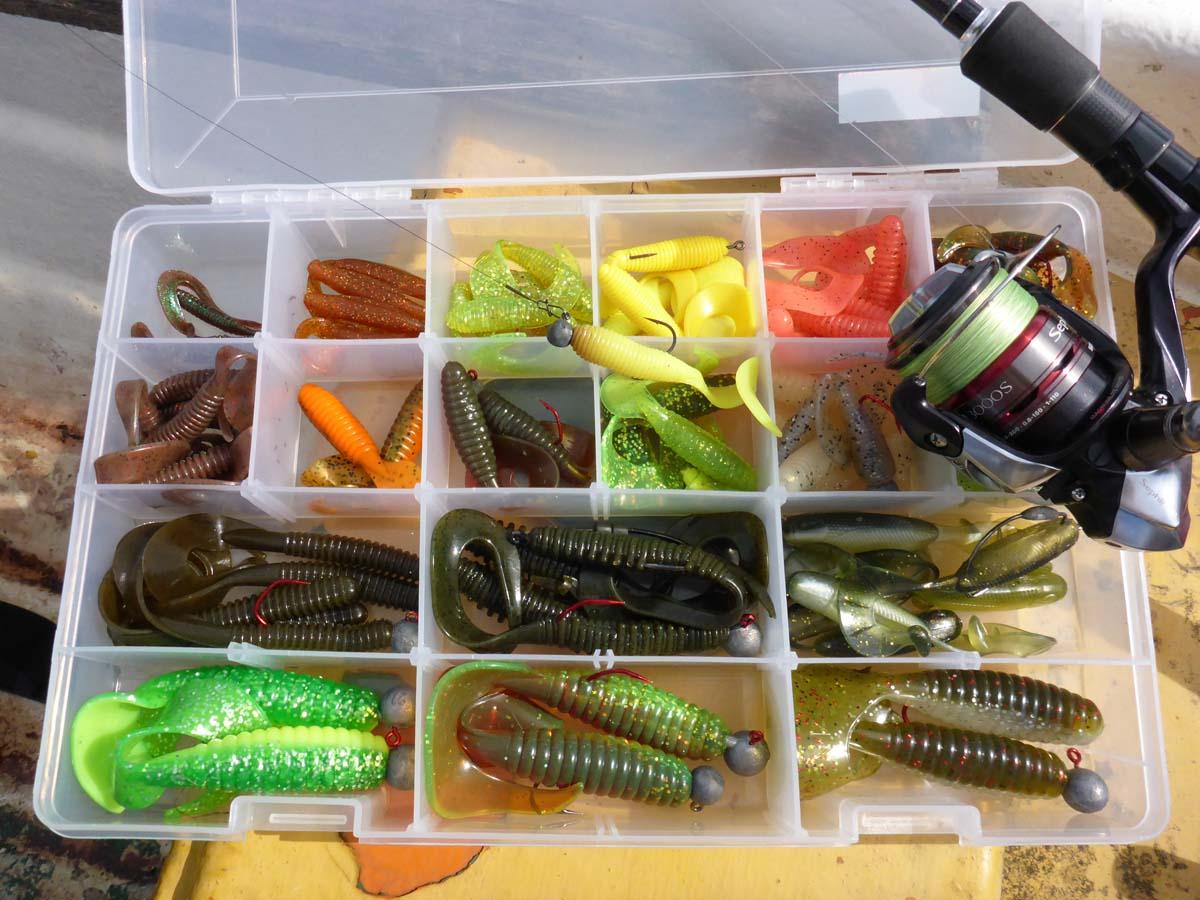 Wer mit Twistern angeln geht, muss sich um die Formen- und Farbenvielfalt keine Sorgen machen. Es gibt unzählige Modelle auf dem Markt, wo für jeden Zielfisch der passende Köder dabei ist. Foto: BLINKER/J. Radtke