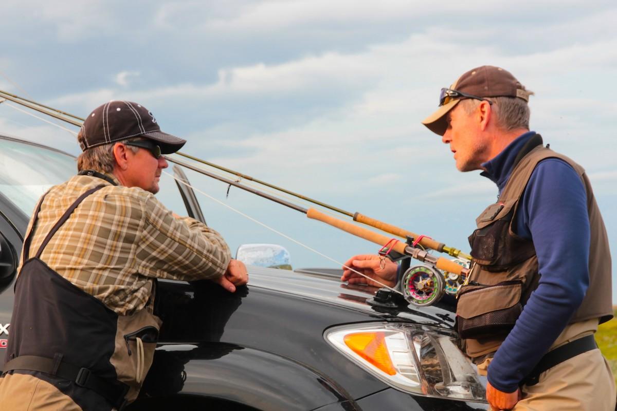 Welche Rute mit welcher Schnurklasse nehme ich? Darüber wird unter Fliegenfischern gerne diskutiert. Foto: M. Werner