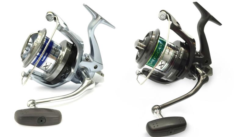 Zwei Weitwurfrollen, zwei Einsatzgebiete: Links die Speedcast XSB für die Brandung, rechts die Speedcast XTB zum Karpfenangeln. © www.shimanofishnetwork.de