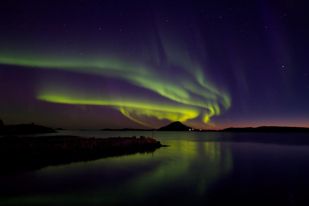 Angeln in Norwegen Polarlichter