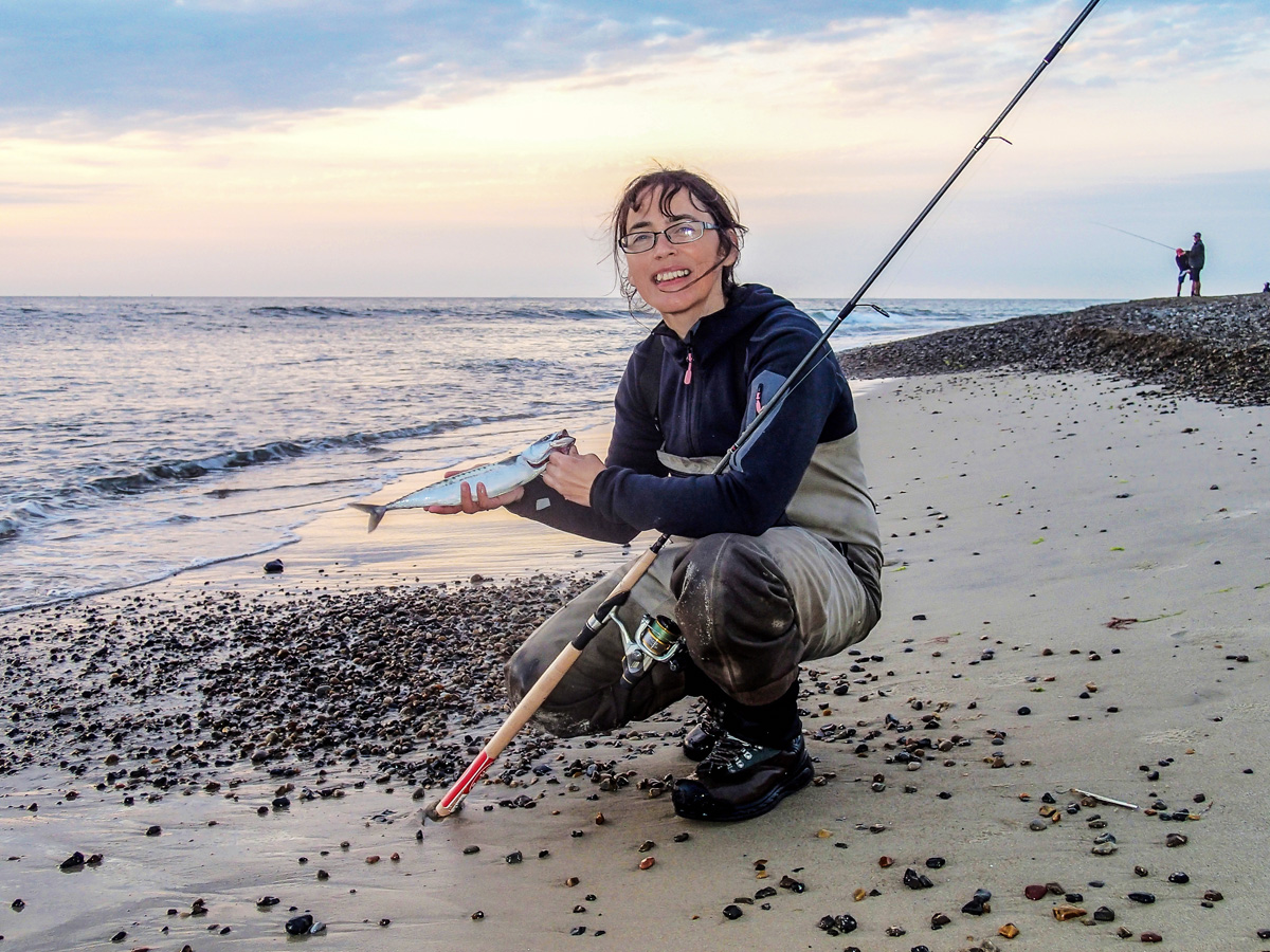 Makrelen und weitere Meeresbewohner können Sie am Lyngså-Strand fangen. Foto: Visit NORDJYLLAND