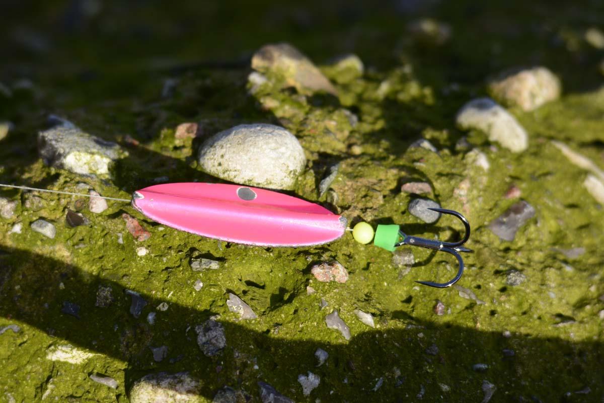 Durchläuferblinker und –wobbler sind sehr beliebt an der Küste geworden. Hier ein dänischer Trutta Inliner. Foto: R. Korn