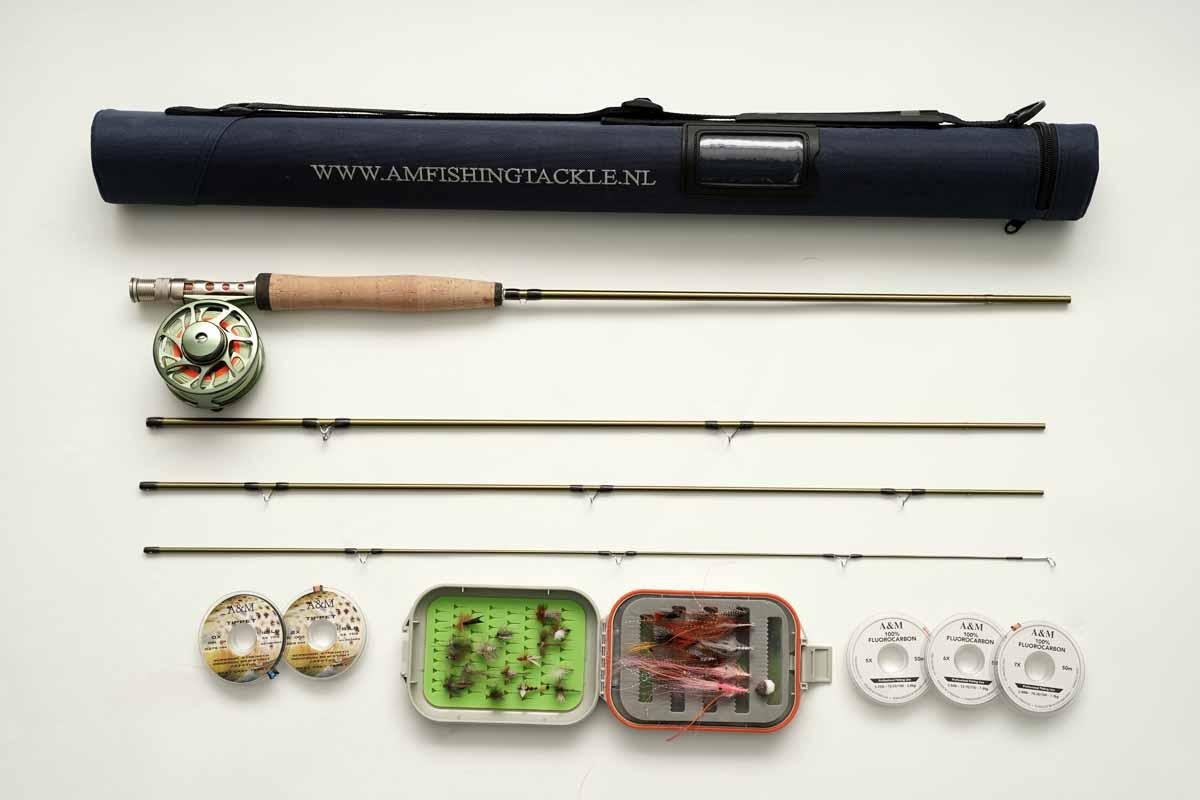 Zum Einstieg ins Fliegenfischen braucht es nicht viel. Das abgebildete Set finden Sie übrigens im Shop von A&M Flyfishing für 89,95€! Foto: BLINKER / M. Heins