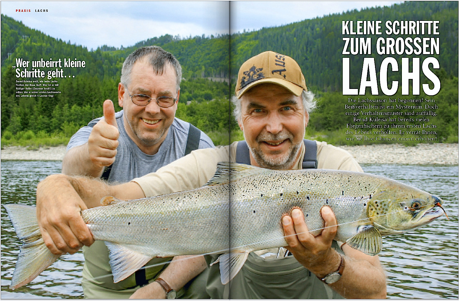 Im Juni und Juli steigen die Lachse in die Flüsse auf, zum Beispiel in Norwegen. Bernd Kuleisa gibt Ihnen hilfreiche Tipps, damit es mit dem Fang klappt.