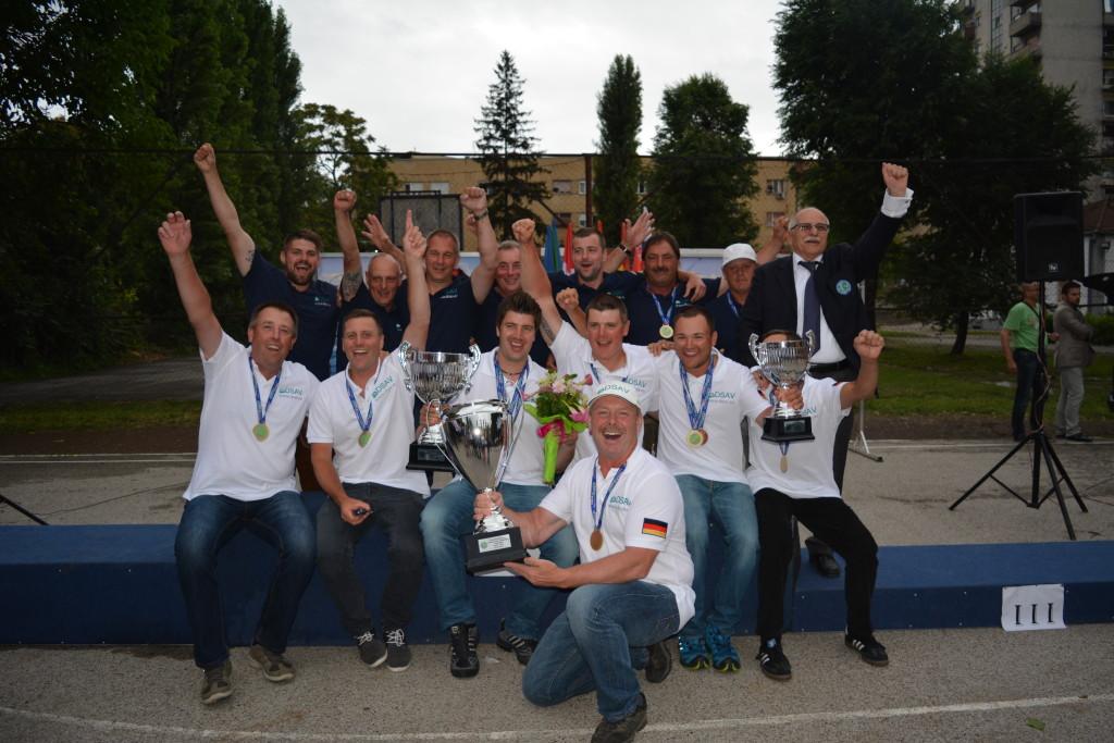 Das deutsche Team hollte sich bei der Feeder-WM in Serbien den ersten Platz. Foto: MS-Range