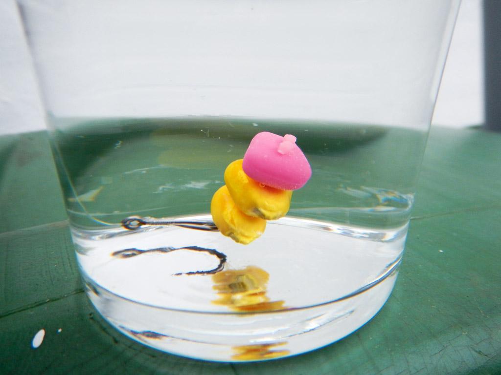Wer Mais aufpoppen möchte, kann dies mithilfe eines schwimmenden künstlichen Maiskorn realisieren. Foto: BLINKER