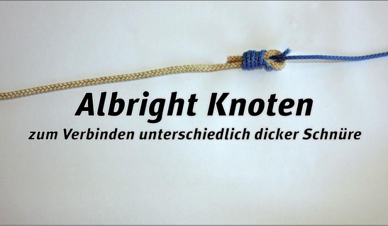 Der Albright-Knoten eignet sich zur Verbindung unterschiedlich dicker Schnüre. Foto: Blinker