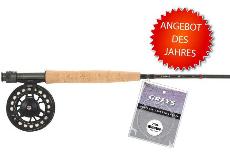 """Sie suchen als Einsteiger Ausrüstungs-Tipps zum Fliegenfischen? Dieses Fliegenfischen-Set hat das Magazin """"FliegenFischen"""" mit der Firma Greys zusammengestellt. Es ist gut, robust und günstig! Für nur 50 Euro Zuzahlung erhalten Sie dieses Einsteigerset zum Fliegenfischen!"""