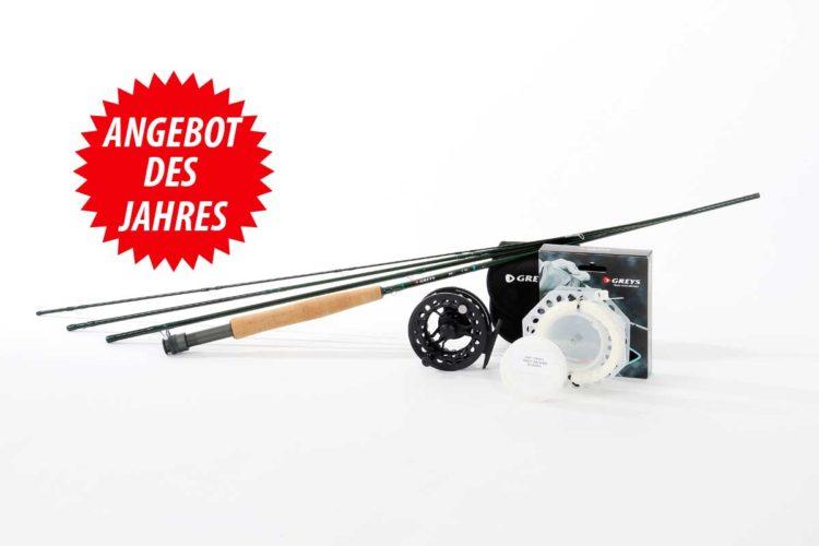 """Sie suchen als Einsteiger Ausrüstungs-Tipps zum Fliegenfischen? Dieses Fliegenfischen-Set hat das Magazin """"FliegenFischen"""" mit der Firma Greys zusammengestellt. Es ist gut, robust und günstig! Für nur 69 Euro Zuzahlung erhalten Sie dieses Einsteigerset zum Fliegenfischen!"""