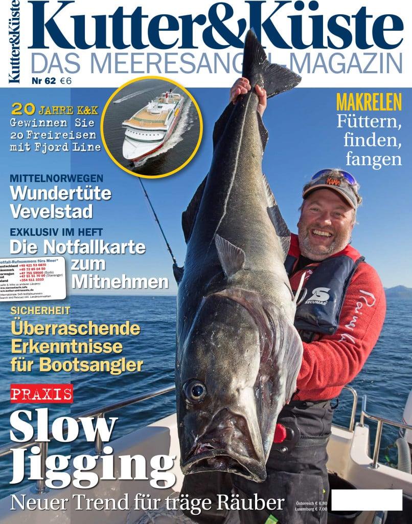 Die kutte und kueste Ausgabe 62 ist ab dem 20. Juli 2016 im handel erhältlich. Auf 100 Seiten bekommen sie alles rund um das Meeresangeln.