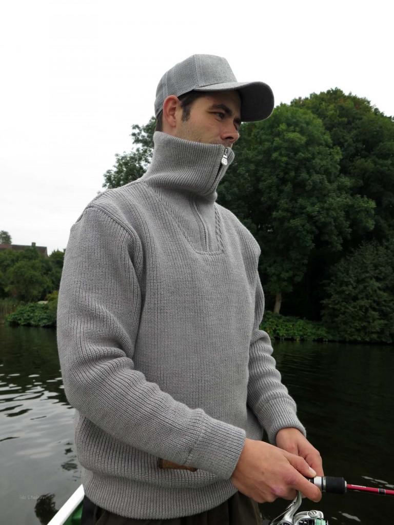 Der große Kragen schütz auch das Gesicht vor kalten Temperaturen.