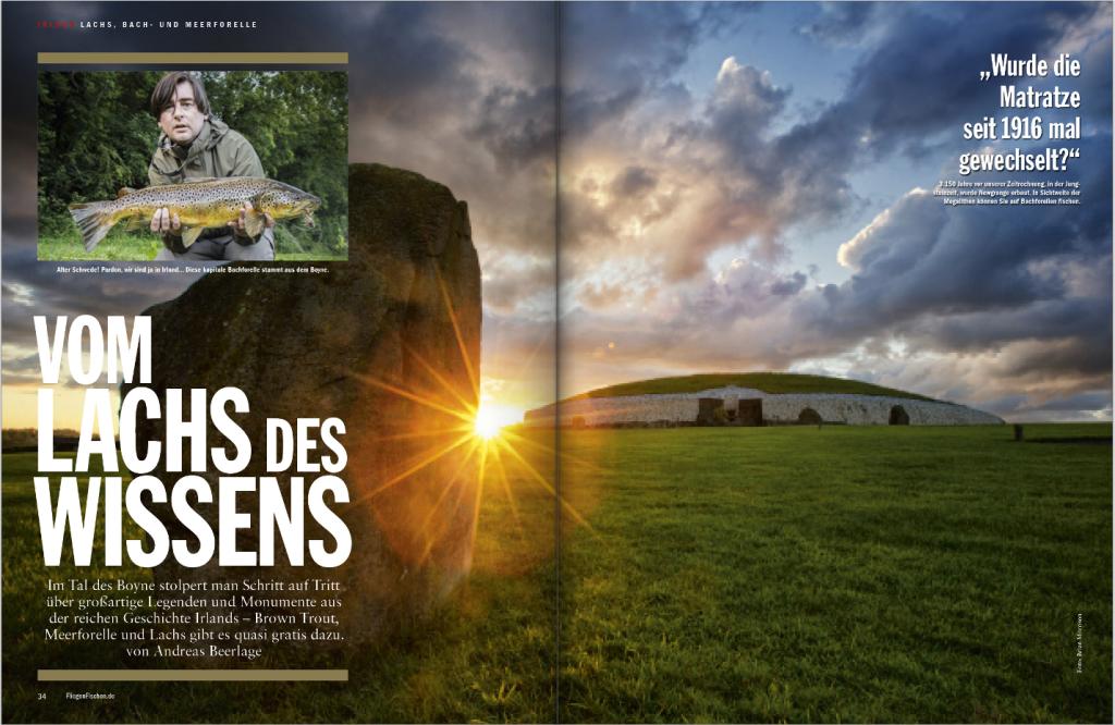 Sie suchen die schönsten Ziele für Fliegenfischer? In unserer Reise-Ausgabe erwartet Sie eine mystische Irland-Geschichte über Bachforellen, Meerforellen und Lachs.