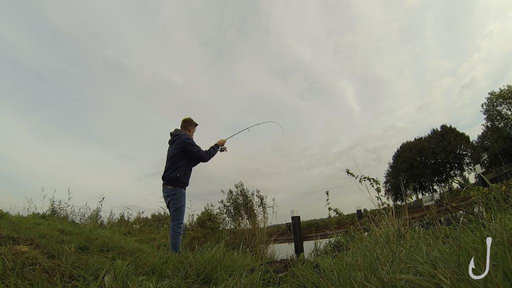 Auch Finn von den Fischköppen konnte am Ende seinen Schleusen-Fisch fangen.