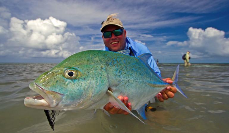Fliegenfischen auf Farquhar. Die Inseln liegen im Indischen Ozean, etwa 700 km südwestlich der größten Insel Mahé.