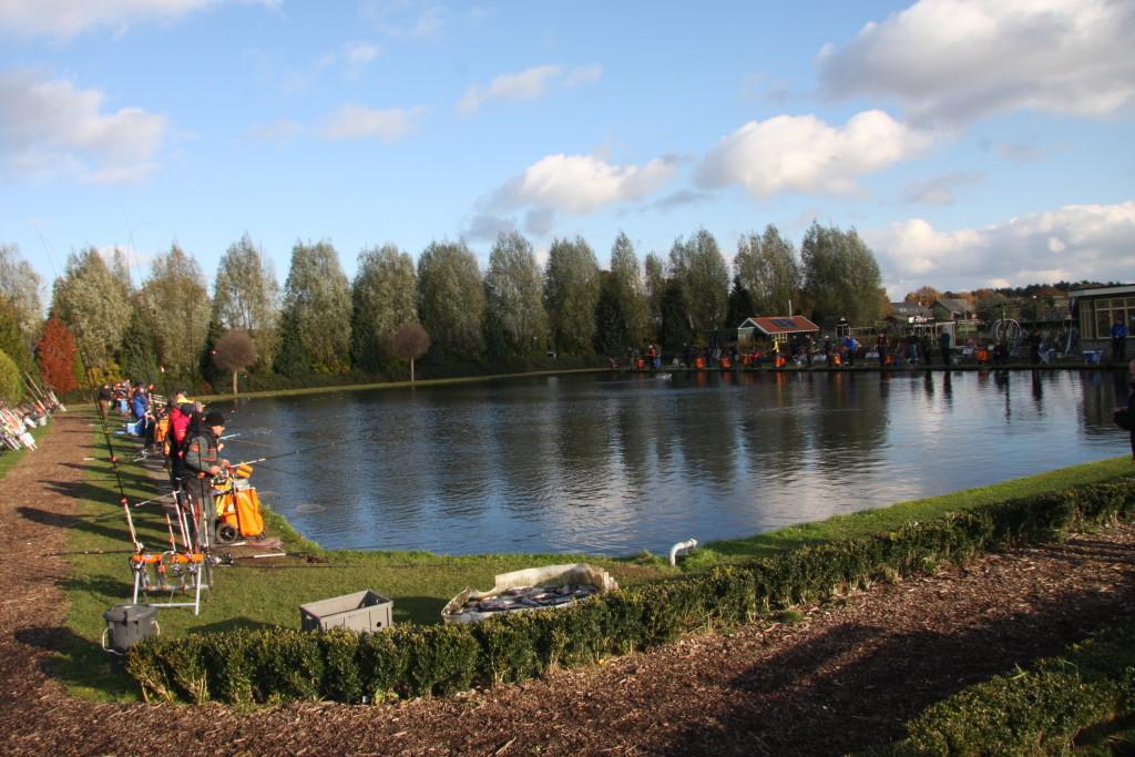 An den Gewässern der Anlage Keijzersberg fischten 80 Teilnehmer bei der Deutsche Meisterschaft 2016 im Forellenangeln.