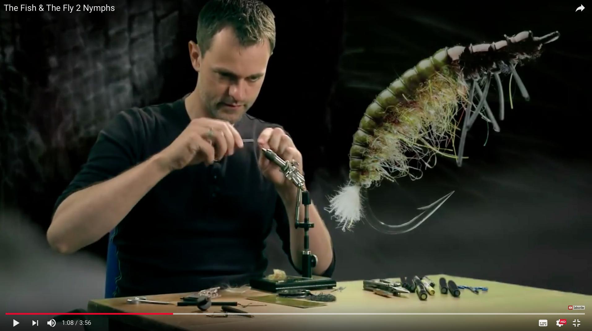 Auf der DVD, die der aktuellen Ausgabe von Fliegenfischen beiliegt, geht es nicht nur um das Nymphenfischen – es werden auch fängige Nymphen gebunden!