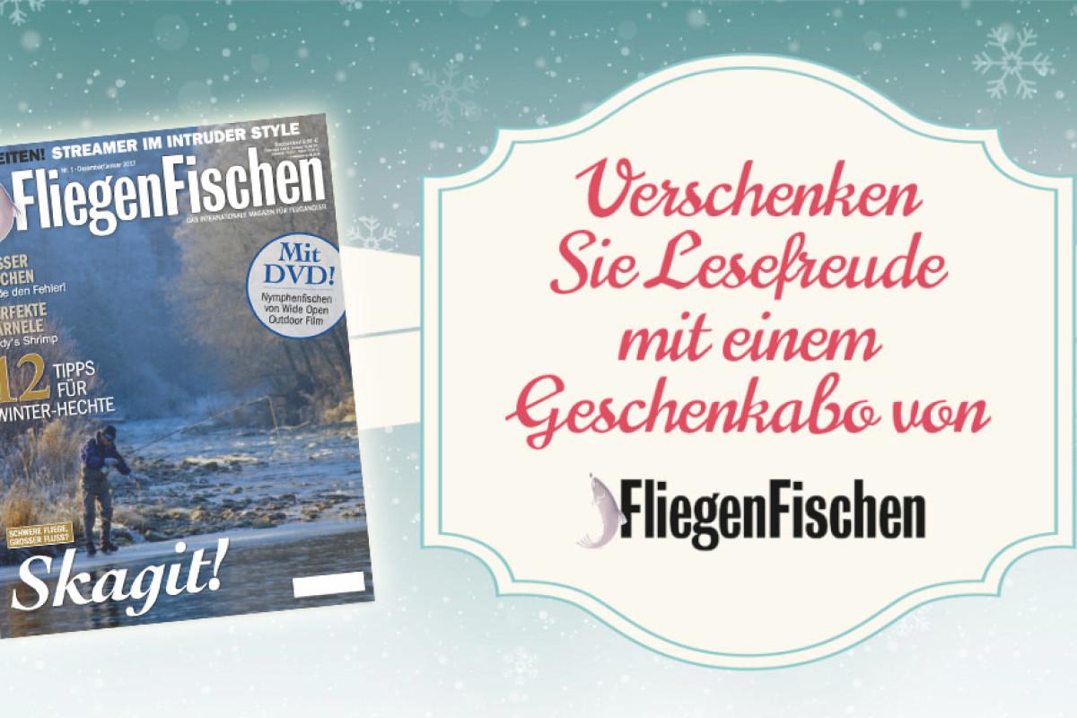 Das Magazin FliegenFischen ist die perfekte Geschenkidee für Fliegenfischer. Bis zum 14. Dezember bestellt erhalten Sie das Magazin inklusive Geschenkkarte pünktlich zu Weihnachten.
