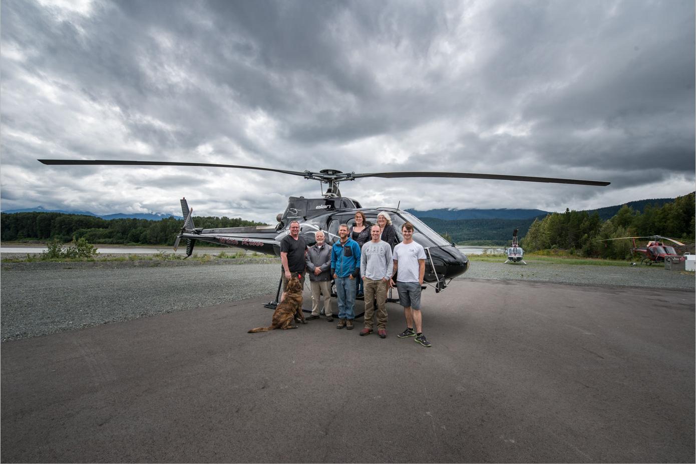 Neu 2017 in der Skeena Salmon Lodge: Gäste können mit dem Helikopter schnell und sicher an sonst unzugängliche Stellen gebracht werden!