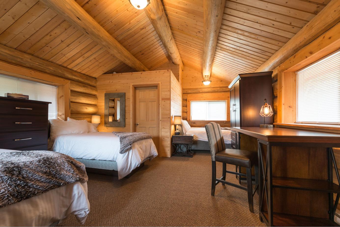 Schöner Wohnen: Die Skeena Salmon Lodge wurde komplett im typisch kanadischen Stil renoviert. Sogar Sauna und Whirlpool sind vorhanden!