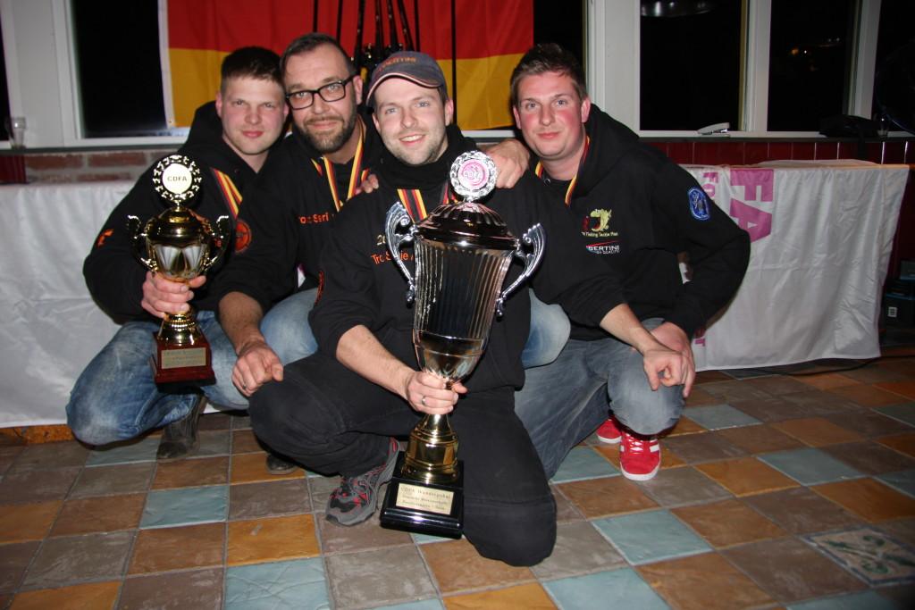 Die Gewinner der Mannschaftswertung (von links): Fabian Härtel, Sandro Vierkant, Simon Härtel, Benny Oltersdorf. Foto: G. Bradler