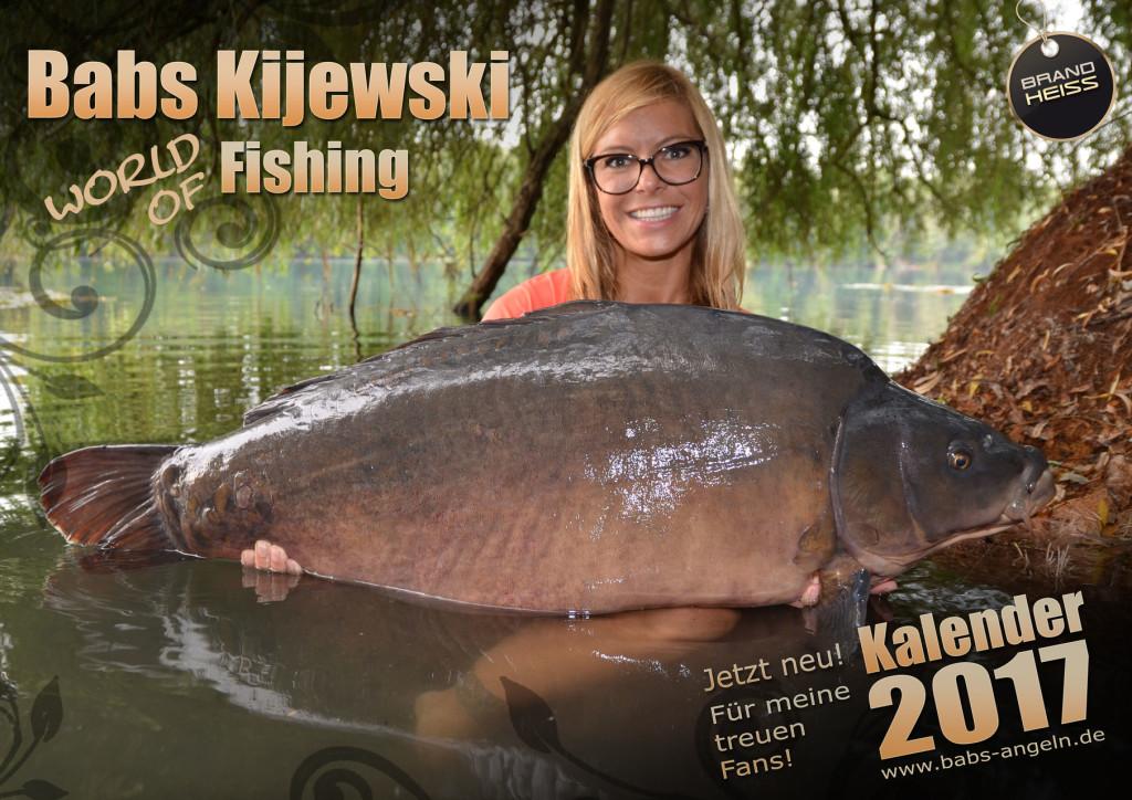 Diese Angelkalender von der wohl bekanntesten Anglerin Deutschlands Babs Kijewski, ist zum Preis von 17,99 Euro unter www.babs-angeln.de/shop/ erhältlich.