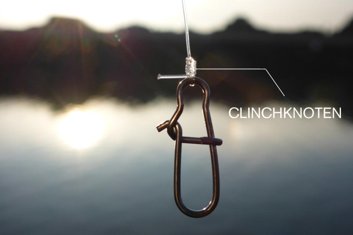 Der verbesserte Clinchknoten eignet sich zum anknoten von Wirbeln oder Karabinern.
