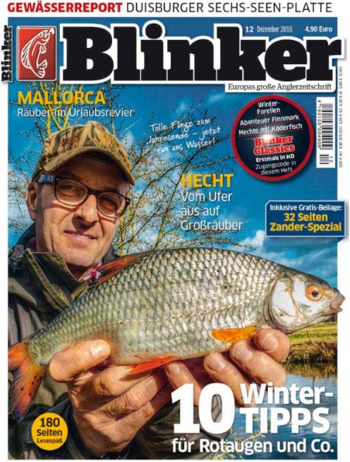 """In der BLINKER-Ausgabe 12/2016 erfahrt ihr mehr zum Thema """"Rueckkehr der Lachse in Deutschland."""