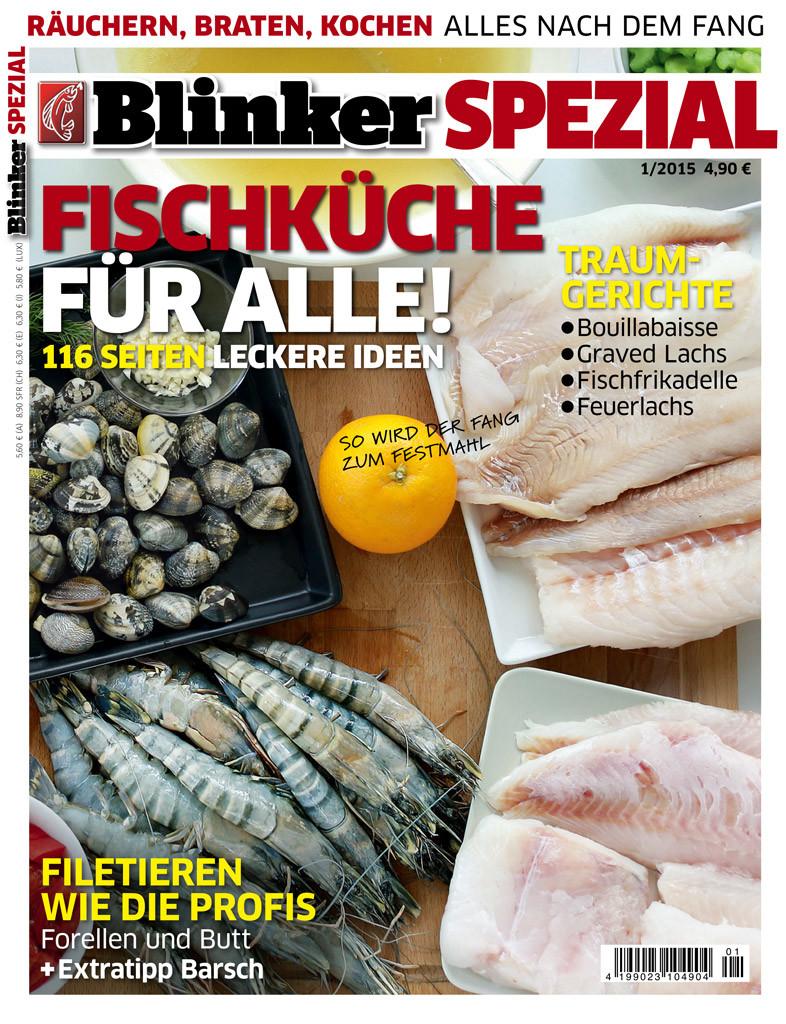 """Einfach auf das Foto klicken und Dir die BLINKER Spezial-Ausgabe """"Fischküche für alle"""" sichern."""