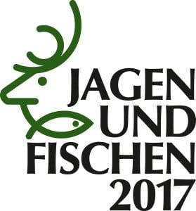 Das Logo der Messe Jagen und Fischen 2017 in Augsburg.