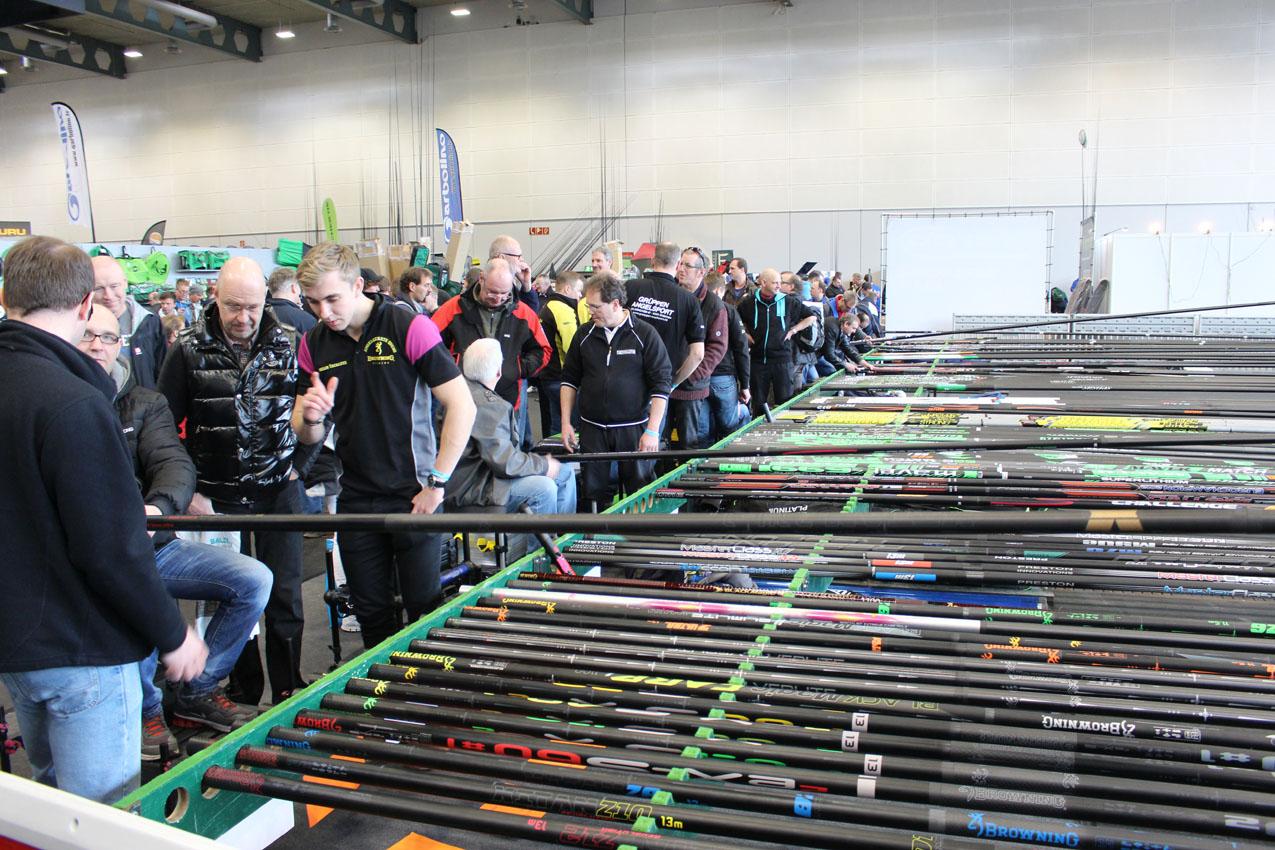 Das Angebot an Ruten und anderen Zubehör auf der Stippermesse in Bremen ist groß. Foto: privat