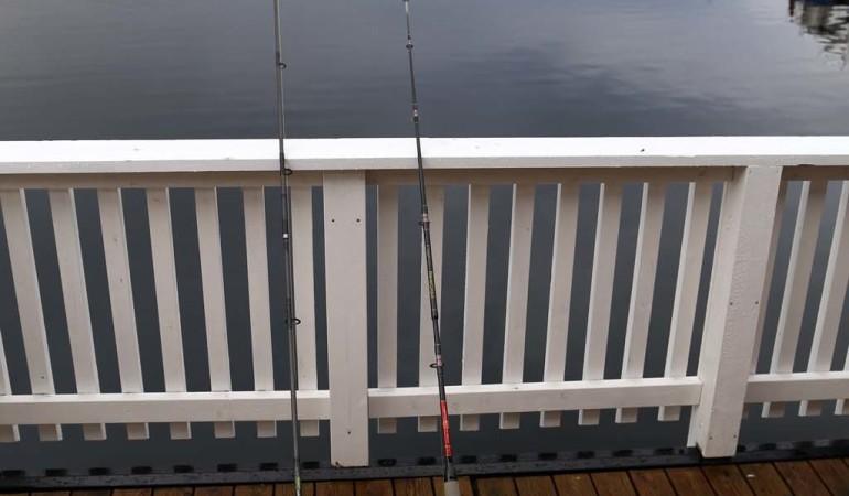 Bei schlechtem Wetter kann man auch direkt von der Terrasse aus angeln. Foto: D. Figge