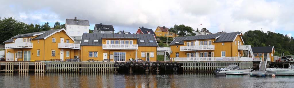 Unterkünfte mit Blick direkt aufs Meer, machen den Angelurlaub in Rørvik zu etwas Besonderem. Foto: