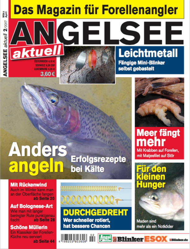 Forellenangeln am Forellensee Magazin angelsee-aktuell 2 2017