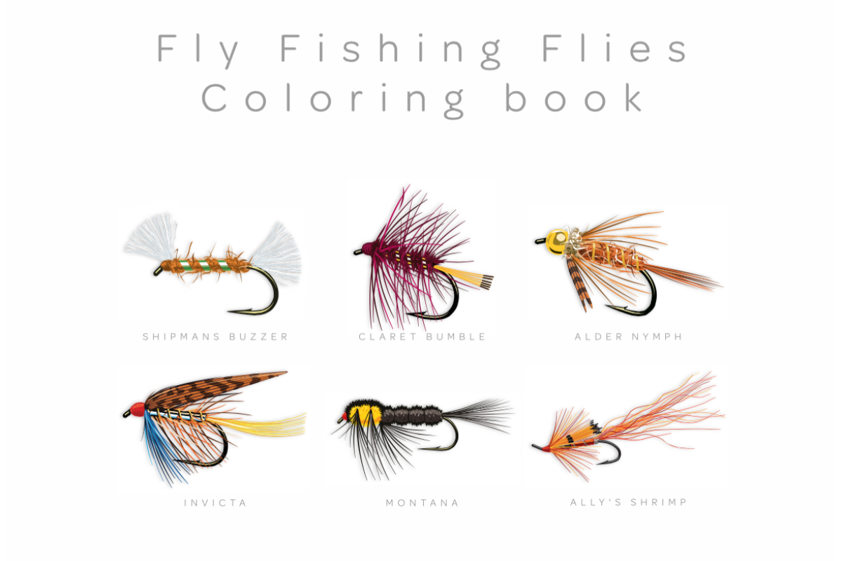 Buch für Fliegenfischer: Malbuch als Therapie - BLINKER