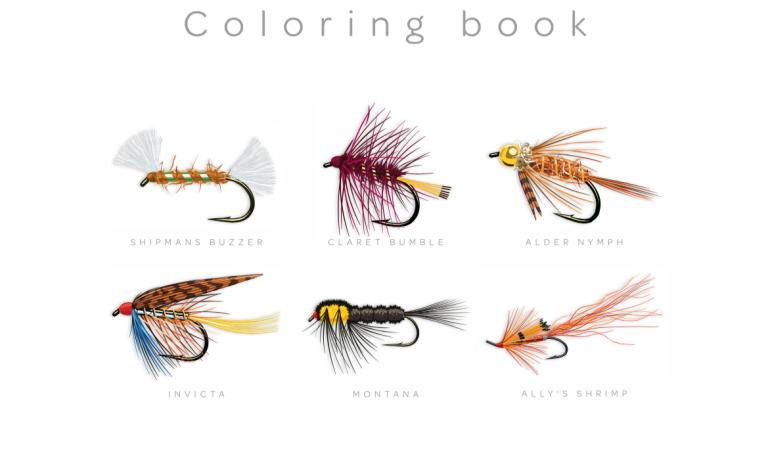 Dieses Fly Fishing Flies Coloring Book können Sie erwerben.