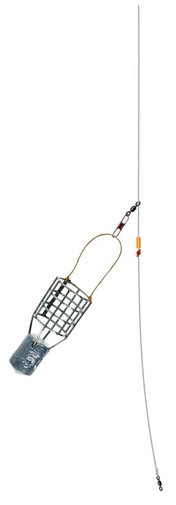 Der Futterkorb gleitet an einem Tönnchenwirbel frei über die Hauptschnur. Foto: A. Pawalitzki