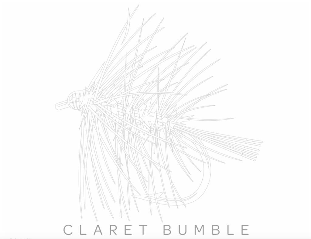 Buch für Fliegenfischer: Diese schöne Claret Bumble können Sie ausmalen und Ihrer Kreativität freien Lauf lassen.