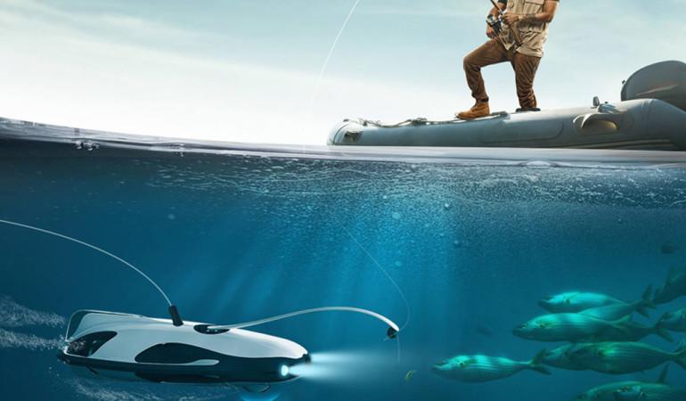 Der Unterwasser-Drohne wurde aktuell auf der Elektronikmesse CES in Las Vegas präsentiert. Foto: designboom.com