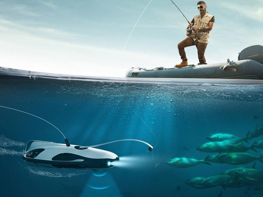 Die Unterwasser-Drohne wurde aktuell auf der Elektronikmesse CES in Las Vegas präsentiert. Foto: designboom.com