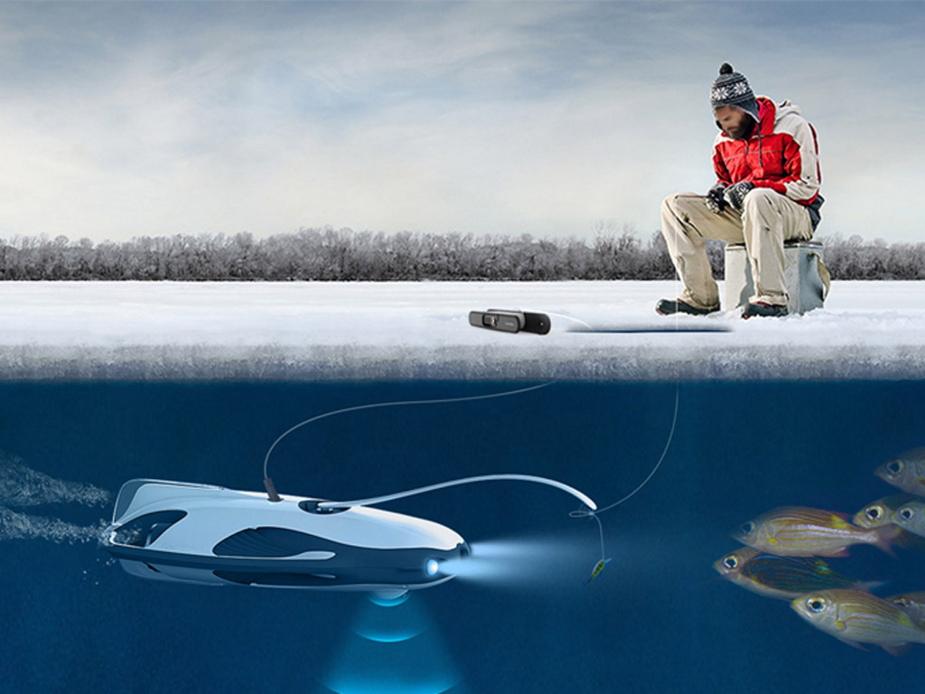 Sehen was unter dem Eis passiert? Mit dem PowerRay kein Problem! Foto: designboom.com