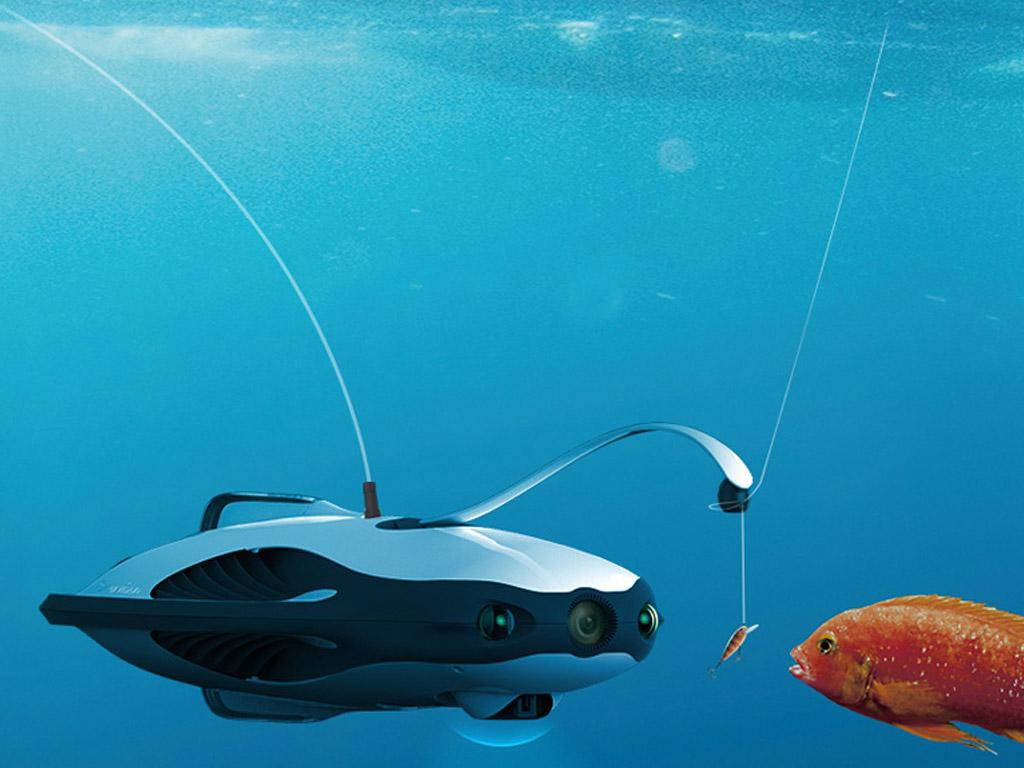 Der Köder wird quasi bis direkt vor das Maul der Fische gebracht. Bei einem Biss löst sich die Schnur aus der Haltevorrichtung und man kann den Fang an Land holen. Foto: designboom.com