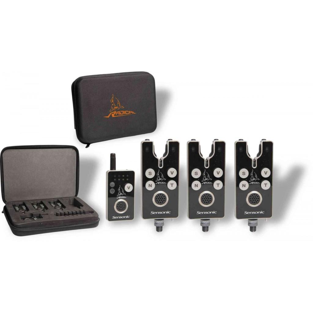 Das Sensonic Bissanzeiger-Set besteht aus allen Geräten, die man zum Karpfenangeln benötigt. Foto: Zebco